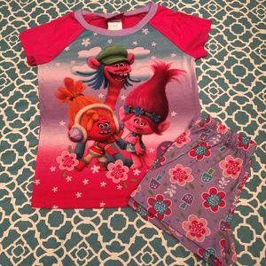 Dream Works Trolls Pajamas Size 8